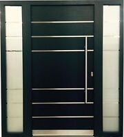 Haustür WeltHaus WH75 Aluminium mitt Kunststoff Tür LA111 Türen+2 Seintentel
