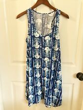 Lilly Pulitzer Melle Tank Dress Get In Line Jellyfish Blue Size Small