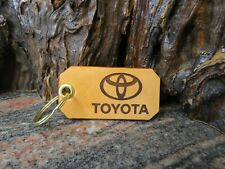 Toyota key chain Genuine leather key ring 557
