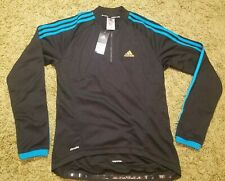 Men`s ADIDAS Cycling Jacket Jersey Shirt Full Zip Long Sleeve Size L