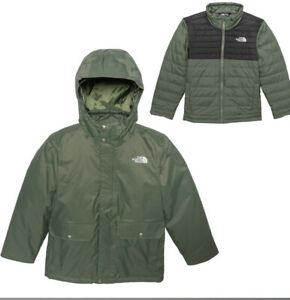 The North Face Youth XL 18/20 Sequoia Tri Climate Hooded Jacket NEW NWT Green