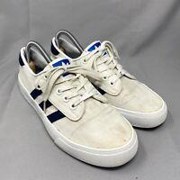 Adidas Kiel Low Top Trainers Size UK 7.5 EU 41.5 Sneakers 3 Stripe White