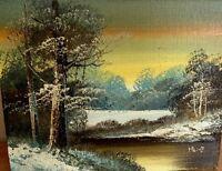ART PAINTING HEINZ Original Paint And Signature Landscape 8x10