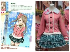 Cute LOVE LIVE Cosplay Minami Kotori Winter Warm Coat+Snow Skirt Outfit Costumes