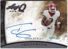 2015 LEAF Q ON CARD AUTO: TODD GURLEY - RC AUTOGRAPH RAMS ROOKIE OF THE YEAR