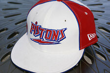 NEW ERA HAT CAP FITTED 59FIFTY DETROIT PISTON SIZE BLUE RED WHITE NBA