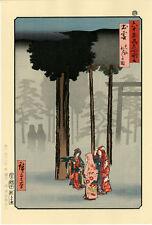 """Véritable Estampe Japonaise De Hiroshige """"Représentation De Hotohoto À Taisha.."""""""
