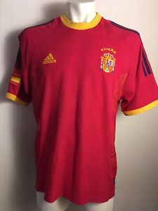 Spain 2002 2004 Home original adidas football camiseta shirt RAUL ERA JERSEY