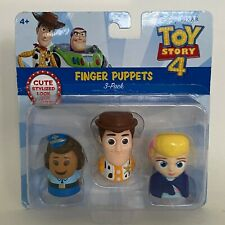 Disney Pixar Toy Story 4 Finger Puppets 3 Pack Giggle McDimples Woody Bo Peep