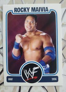 The Rock Rocky Maivia Dwayne Johnson WWF WWE HOFer Custom Wrestling Card rc