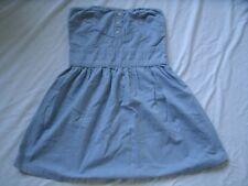 Jack BB Dakota Women's Chambray Dress Strapless Size M Medium