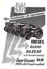 PUBBLICITA' 1955 TRATTORE SAME D.A12   D.A.25-38 DIESEL F.LLI CASSIANI TREVIGLIO