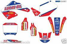 Graphic Kit Honda CR125 CR250 Dirt Decal Backgrounds Sticker CR 125/250 00-01 XX