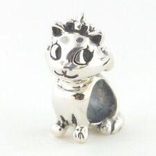 Kitty Cat cinta de plata esterlina 925 encanto grano