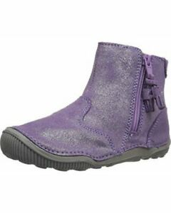 NIB STRIDE RITE Bootie Shoes Zoe Light Purple Toddler 4 M