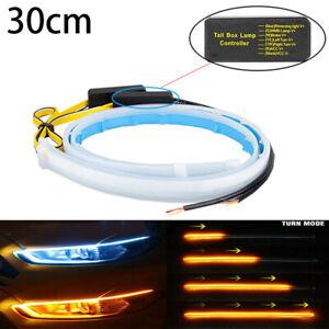 2x 30cm Auto LED Blinker Dynamische Streifen DRL Scheinwerfer Tagfahrlicht Lampe