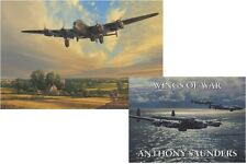 Raf lancaster imprimé + wings of war book portfolio signé bomber command anciens combattants