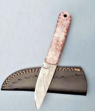 MH KNIVES CUSTOM HANDMADE DAMASCUS STEEL FULL TANG HUNTING/SKINNER KNIFE 315J