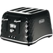 DeLonghi CTJ4003BK Brillante 4 Slice Toaster - Black