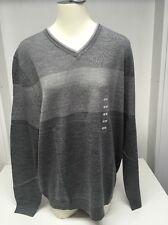 Calvin Klein Men's Italian Yarn Merino Wool Blend V-Neck Sweater, Size Large