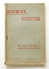 Sources n°12 - 1942 - Chantiers de la Jeunesse - Corporation Tararienne - rare