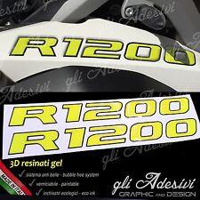 2 Adesivi Serbatoio Moto BMW R 1200 gs adventure LC 280 x 30 mm 3D GIALLO NERO