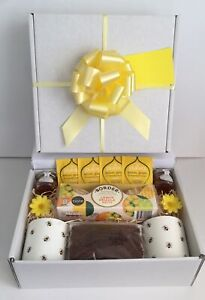 Afternoon Tea for Two Gift Basket Tea Bee Mugs Cake Biscuits New Home Get Well
