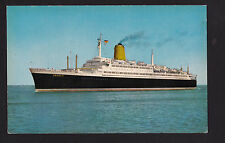 vintage North German Lloyd TS Bremen ship Germany postcard