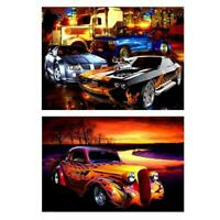 5D DIY Full Drill Diamond Painting Car Cross Stitch Embroidery Kit Art Decor