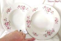 Vintage Dinnerware Cmielow Porcelain Soup Bowls Cherry Blossom Poland China