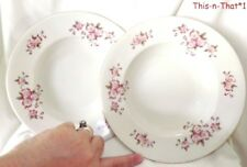 Vintage Dinnerware Cmielow Porcelain Soup Bowls Cherry Blossom Poland China