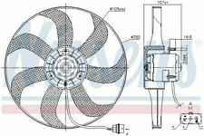 Nissens Lüftermotor Lüfter Motorkühlung Kühlerlüfter Kühler Ventilator 85725