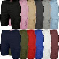 Mens Cargo Shorts Combat Chino Half Pants 100% Cotton Work Wear Casual 30-46