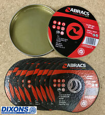 Abracs Proflex 115mm x 1mm Extra Thin Slitting Cutting Inox Disc Tin of 10 Discs
