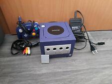 Nintendo Gamecube mit original controller memory card kabelei lila