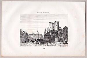Belgique, Belgium, Gand, Ghent. Ansicht - Kupferstich von Danvin / Couchi 1835