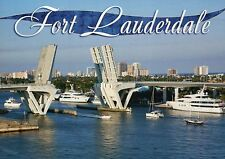 Drawbridge in Fort Lauderdale Florida, Boat Yacht Travel, Bridge FL --- Postcard