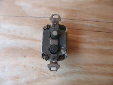 ANTIQUE PUSH BUTTON LIGHT SWITCH OLD HOUSE ELECTRICAL