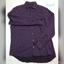 "Mens Charles Tyrwhitt Purple Striped Shirt Size L P-P 23"" Length 29"""