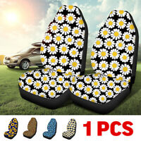 1x Front Car Seat Covers 3D Flowers Cushion Cover Truck Van Protector