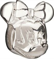 Authentic Silver Chamilia Disney Minnie Mouse Head Charm Bead DIS-2 NEW w/BOX!