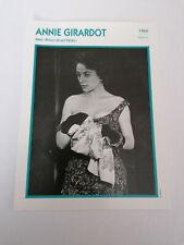 Annie Girardot - Fiche cinéma - Portraits de stars 13 cm x 18 cm