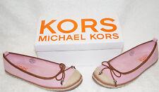 Michael Kors Shoe Cammie 5 EU 38  Slip On Ballerina Kids Teen Women Pink Silver