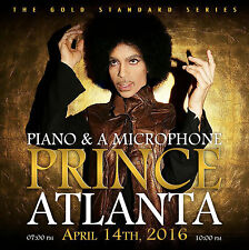 PRINCE CD x 2 ATLANTA 2016 - 7pm and 10pm Shows - 2CD Set GOLD (<ô>) Records