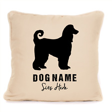 More details for afghan hound gift personalised dog full cushion for dog lover