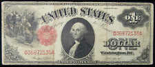 1917 $1 Legal Tender Note Large Size Currency Vg Very Good