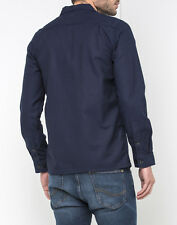 Lee Arbeiter Knöpfe ÜBERHEMD Jacke Marineblau erkunden Ausverkauf XL