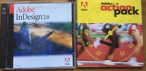 Genuine Adobe InDesign 2.0 Install Disc for Mac + Actionpack