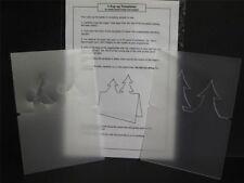 2 Hardwearing Pop-up Templates Xmas Trees & Angels A6 Single Fold Cards AM489