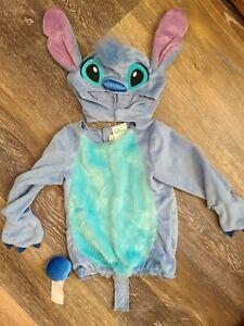 Disney Baby Infant Lilo & Stitch Deluxe Costume Halloween Dress Up EUC 12 -18 mo